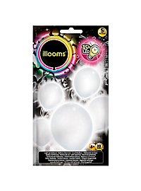 5 illooms LED Luftballons weiß