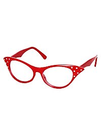 50s Glasses red