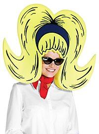 60s foam wig yellow