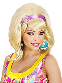 60s ladies wig toupiert blond