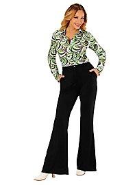 70er Jahre Damenhose schwarz