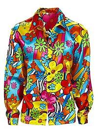 70er Jahre Herrenhemd Flowerpower