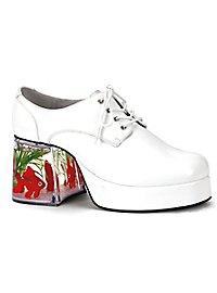 70er Pimp Schuhe weiß