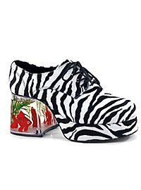 70er Pimp Schuhe Zebra