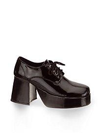 70er Schuhe Herren schwarz