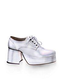 70er Schuhe Herren weiß