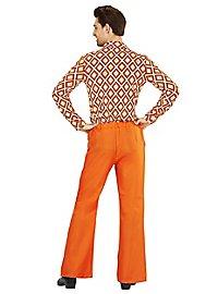 70s men pants orange