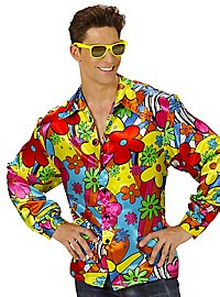 70s men's shirt Flowerpower