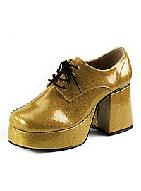 70's Platform Shoes Men gold