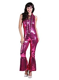 70s sequins jumpsuit pink