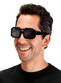 8-Bit Brille schwarz