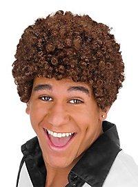 80er Afro Perücke braun