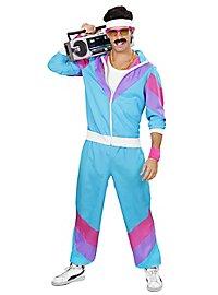 80er Jahre Trainingsanzug hellblau