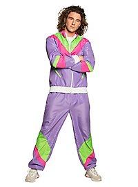 80er Jahre Trainingsanzug lila für Männer