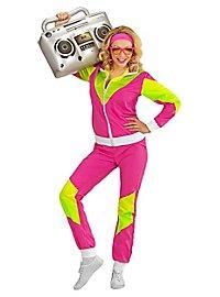 80er Jahre Trainingsanzug pink