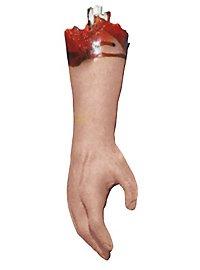 Abgehackter blutiger Arm