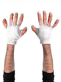 Affenhände Handschuhe weiß