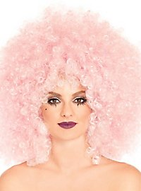 Afro curly wig pink