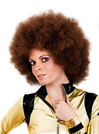 Afro de luxe marron Perruque