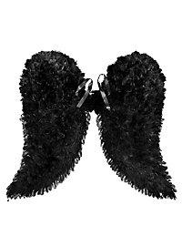 Ailes d'anges en plumes noires