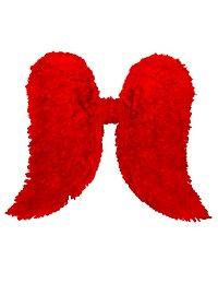 Ailes d'anges en plumes rouges