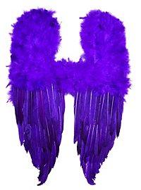 Ailes de démon en plumes violettes
