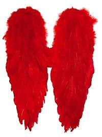Ailes en plumes rouges