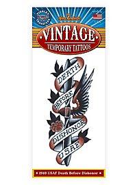 Air Force Vintage Klebe-Tattoo