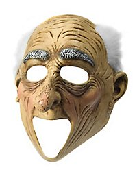 Amazed grandpa mask with open mouth
