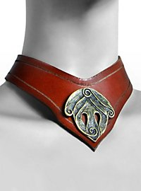 Leather neckband - She-warrior