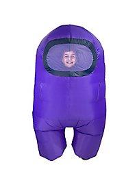 Among Us aufblasbares Kinderkostüm Purple