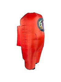 Among Us aufblasbares Kostüm Red