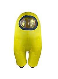 Among Us aufblasbares Kostüm Yellow