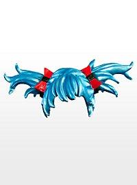 Anime blue Latex Wig