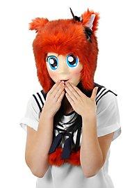 Anime Maske mit blauen Augen