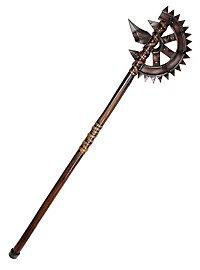 Arme en mousse longue hache steampunk