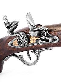 Arme factice pistolet à platine à silex italien