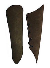Armstulpen aus Veloursleder dunkelbraun