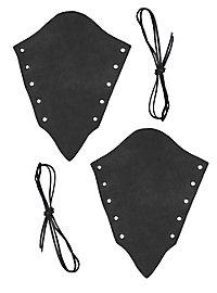 Armstulpen aus Veloursleder schwarz
