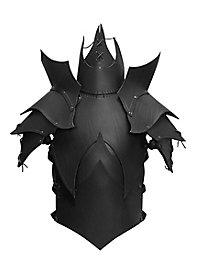 Armure de démon avec spallières en cuir