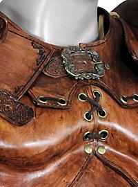 Armure de luxe en cuir de guerrier celte beige