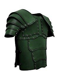 Armure de mercenaire avec spallières en cuir