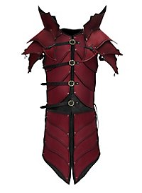 Armure de paladin elfe de sang en cuir rouge