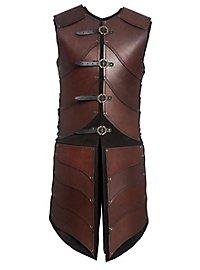 Armure d'elfe guerrier en cuir marron