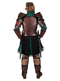 Armure d'elfe guerrière en cuir noir