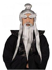 Asian teacher beard wig set