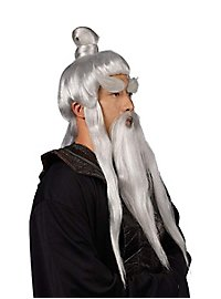Asiatischer Lehrmeister Bart-Perücken-Set