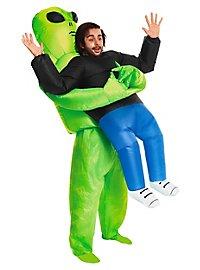 Aufblasbares Carry Me Kostüm Alien