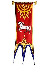 Bannière de Rohan rouge Seigneur des Anneaux