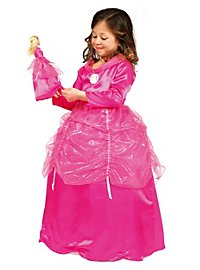 Barbie Prinzessin fuchsia Kinderkostüm + Puppenkleid
